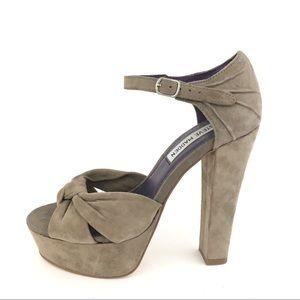 Steve Madden Getreal suede taupe platform sandals